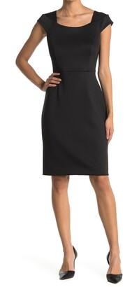 Calvin Klein Cap Sleeve Sheath Dress