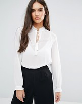 Sisley Blouse With Tie Neck