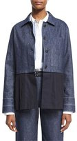 Elizabeth and James York Chambray Button-Front Jacket, Indigo