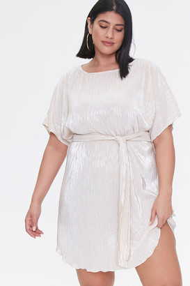 Forever 21 Plus Size Metallic Dolman Dress