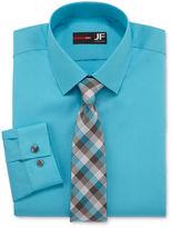 Jf J.Ferrar JF Dress Shirt and Tie Set - Slim Fit