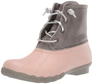 Sperry Womens Saltwater Leather Metallic Lace Boots