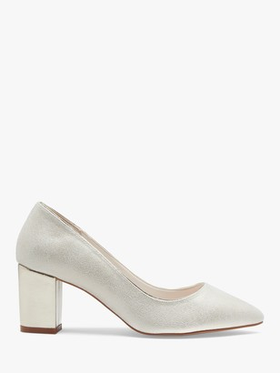 Monroe Rainbow Club Pointed Toe Court Shoes, Champagne