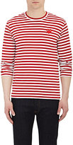 Comme des Garcons Men's Heart Patch Long-Sleeve T-Shirt-RED