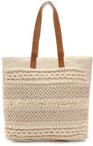 Straw Studios Women's Natural Canvas Tote