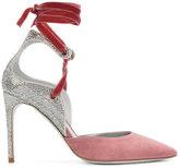 Rene Caovilla ankle strap sequined pumps