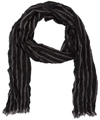 John Varvatos Stripe Print Merino Wool Scarf