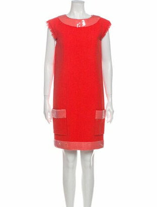 Chanel Vintage Mini Dress Orange