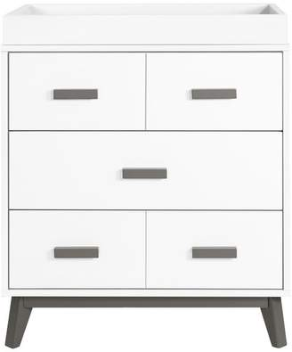 Babyletto Scoot 3-Drawer Changer Dresser, White and Slate