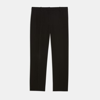 Theory Crepe Cropped Tailored Trouser