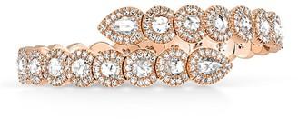 David Morris 18kt rose gold Rose Cut White Diamond Flexi 2/3 set bangle
