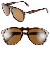 Persol Men's 54Mm Polarized Keyhole Retro Sunglasses - Brown