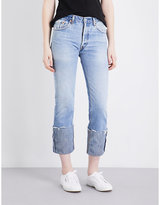 RE/DONE Turned-up straight high-rise jeans