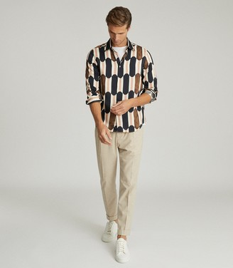 Reiss LANE RETRO PRINT SHIRT Multi