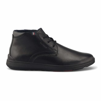Tommy Hilfiger Men's Lightweight City Leather Boot Classic (Black Bds)) 9 UK (43 EU)