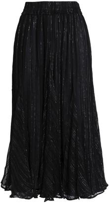Dodo Bar Or Metallic Georgette Midi Skirt