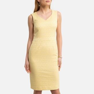 Anne Weyburn Sleeveless Jacquard Shift Dress