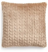 """CLOSEOUT! Martha Stewart Collection Quilted Faux-Fur 20"""" Square Decorative Pillow"""