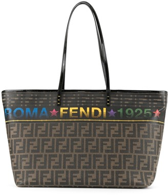 Fendi Pre Owned Zucca Pattern Shoulder Tote Bag