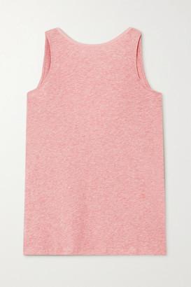 Skin Cassie Melange Pima Cotton-jersey Tank - Pink