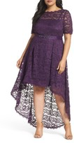 Adrianna Papell Plus Size Women's Lace High/low Dress