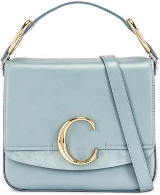 Chloé Small C Box Bag in Faded Blue | FWRD