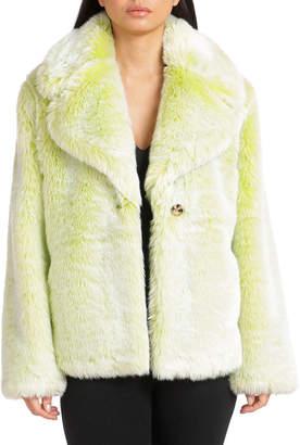 AVEC LES FILLES Chubby Faux-Fur Coat