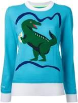 Muveil dinosaur intarsia jumper