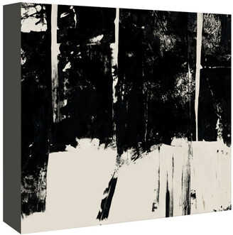 American Flat Americanflat Black And Taupe Abstract 3 By Kasi Minami Canvas Artwork