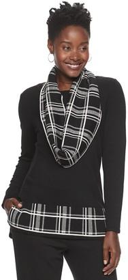 Croft & Barrow Women's Scarf Sweater Set