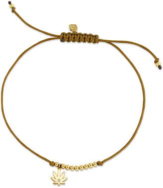 Sydney Evan Diamond Pot Leaf Pull-Cord Bracelet