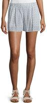 Joie Sibylle Dot-Print Silk Shorts