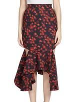 Givenchy Women's Ruffled Cutout Midi Skirt