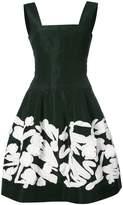 Oscar de la Renta floral flared dress