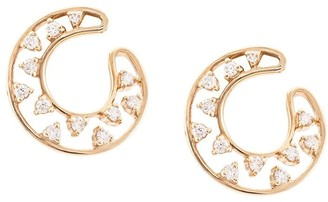 Dana Rebecca Designs 14kt Rose Gold Small Diamond Front Hoop Earrings