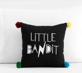 Pottery Barn Kids The Emily & Meritt Little Bandit Pillow, 14x14in, Black/white