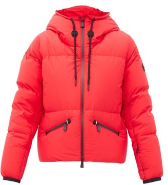 MONCLER GRENOBLE Allesaz Technical Hooded Down Jacket - Red