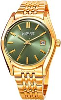 August Steiner Women's Quartz Stainless Steel Casual Watch, Color:Gold-Toned (Model: AS8235YGGN)