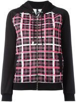 Versus plaid print zipped hoodie - women - Polyester/Spandex/Elastane - S