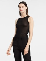 Calvin Klein Sheer Silk Rib Tank Top