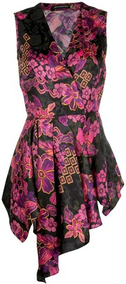 Josie Natori jacquard blouse