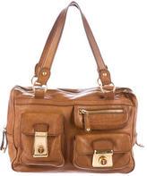 Tod's Distressed Leather Shoulder Bag