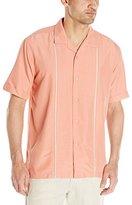Cubavera Men's Short Sleeve Insert Pickstich Woven Shirt