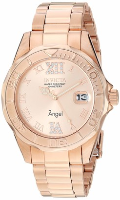 Invicta 14398 Angel Women's Wrist Watch Stainless Steel Quartz Rose Gold Dial