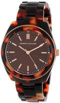 Kenneth Jay Lane Women's KJLANE-3104 3100 Series Brown Dial Tortoise Resin Watch