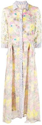 Anjuna Mixed Floral-Print Maxi Shirt