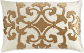 "Lili Alessandra Florence Ivory/Gold Angie Pillow, 14"" x 20"""
