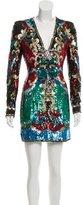 Balmain 2016 Structured Sequined Dress