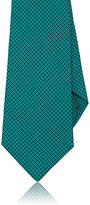 Kiton Men's Diamond-Pattern Silk Necktie-GREEN
