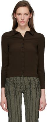 Helenamanzano Brown Solid Murky Waters Shirt